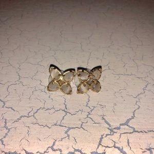 Kendra Scott Slate clover earrings